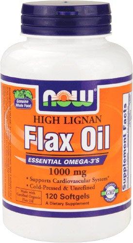Now Foods haut Lignan huile de lin mous gels, 1000 mg (120-comte)