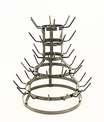 Small Wine Bottle Drying Rack, 18.5 Inches High X 17 Inches Wide - Holds 44 Bottles