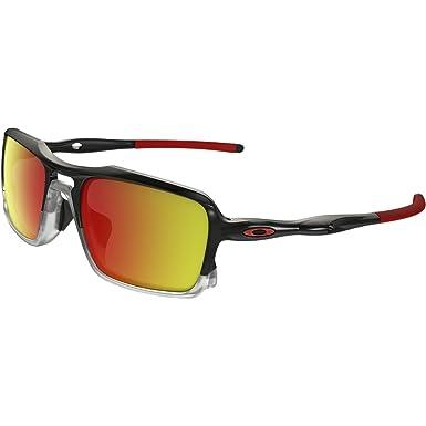b2de12be92e3 Oakley Men's Triggerman Non-Polarized Iridium Rectangular Sunglasses, BLACK  INK/CLEAR, 58.5