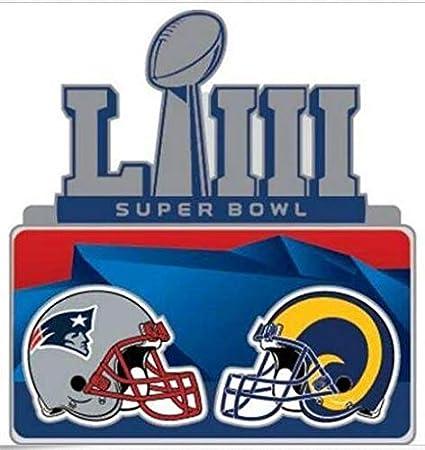 cc5111d4 Amazon.com : Football Super Bowl 53 Dueling Teams PIN RAMS VS ...