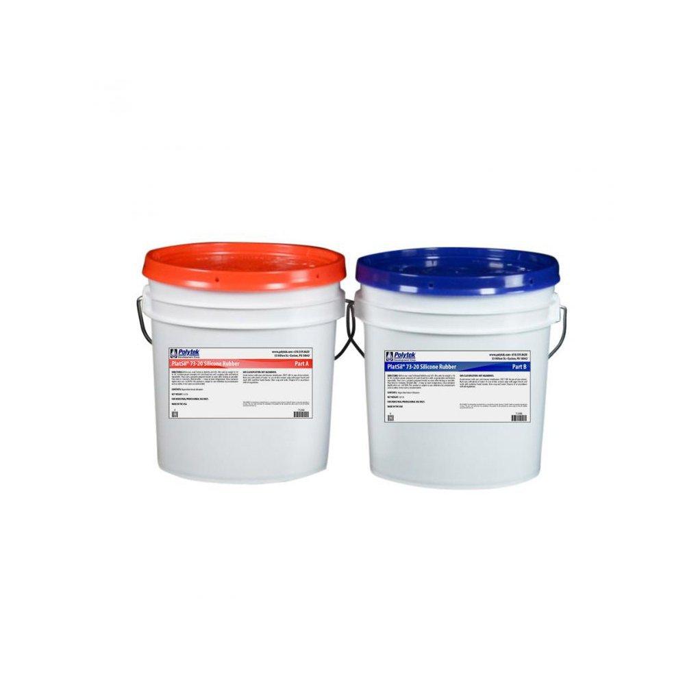 Polytek PlatSil73-20 Platinum Silicone Rubber (16lb Kit)