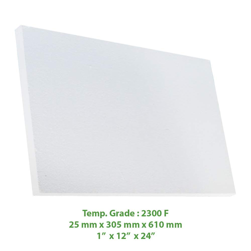Ceramic Fiber Insulation Board (2300 F) (1' X 12' X 24') for Thermal Insulation in Wood Stoves, Fireplaces, Pizza Ovens, Kilns, Forges & More. Spectra Overseas