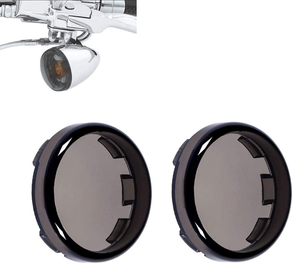 Benlari LED Front Rear Turn Signal Lights Kit with 2 Turn Signal Lens Covers Compatible for Harley Touring Softail Dyna Sportster Street Glide Road Glide