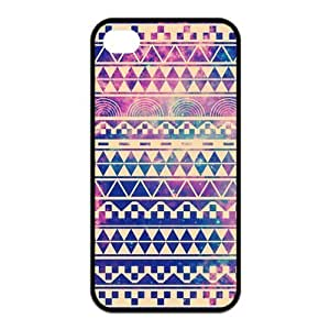 Happinessexplorer Hipstr Nebula & white Aztec Andes Tribal Pattern iPhone 4/4S Case, Best Durable SiliconeColorful Scrawl Aztec iPhone 4/4S TPU Case
