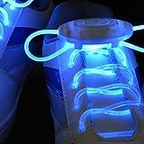 Par de Cordones Luminosos y Parpadeantes de Color Azul Ideales para Zapatos