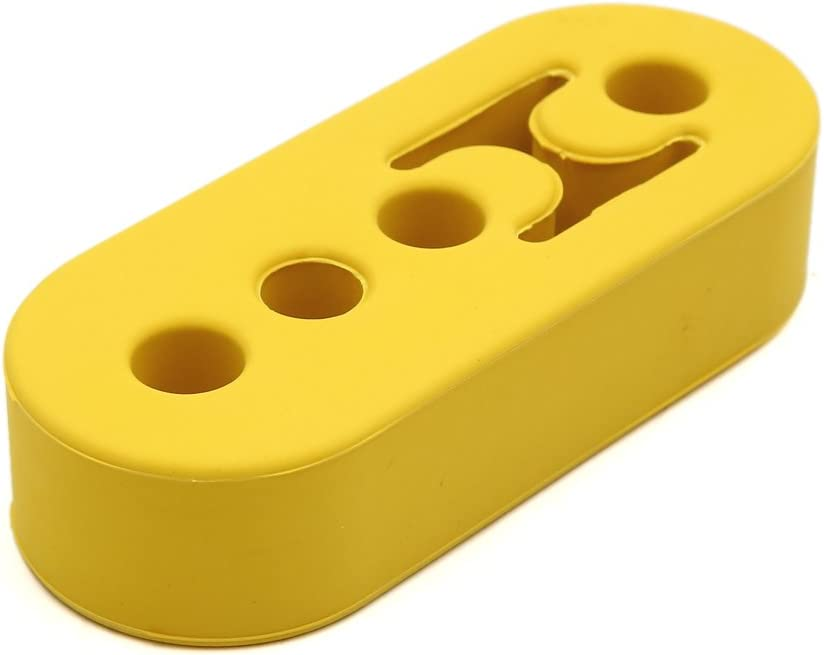 uxcell Yellow 4 Hole Universal Race Car Rubber Muffler Exhaust Pipe Hanger Bushing Bushes
