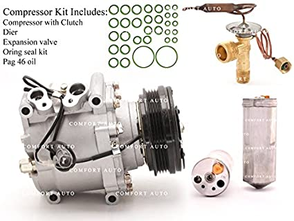 Amazon.com: 1998 1999 2000 Honda Civic L4 1.6L AC A/C Compressor Kit 1 Year Warranty: Automotive