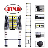 Telescopic Ladder Aluminum Extension Ladder with an Inward Sliding Latch with EN131 Certified