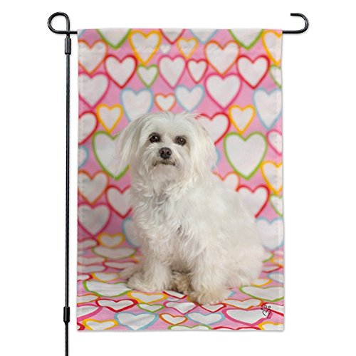 Graphics and More Maltese Puppy Dog Hearts Love Garden Yard