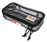 Rough Enough ECO Clear Transparent Cosmetic Travel Bag TSA Approved Multi-functional Organizer Toiletry Pouch Wash Makeup Bags Airport Airline Compliant Bag with Zipper for Trip Accessories Beach Swim