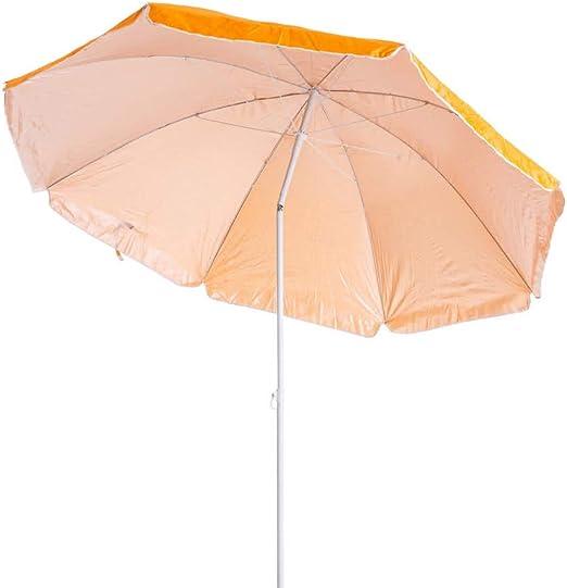 Sombrilla Playa Parasol Naranja Acero de Ø 180 cm - LOLAhome: Amazon.es: Jardín
