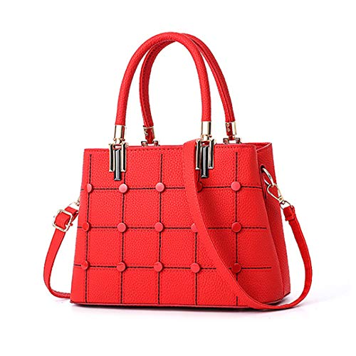 solido Portafoglio 20cm lunghezza 30cm tracolla tracolla cuoio a geometrico Borsa nero a massima modello rosso casual pu borse Borsa HfWwqpz