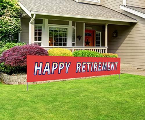 Silvima Large Happy Retirement Banner | Huge Retire Party Sign | Retirement Party Celebration -