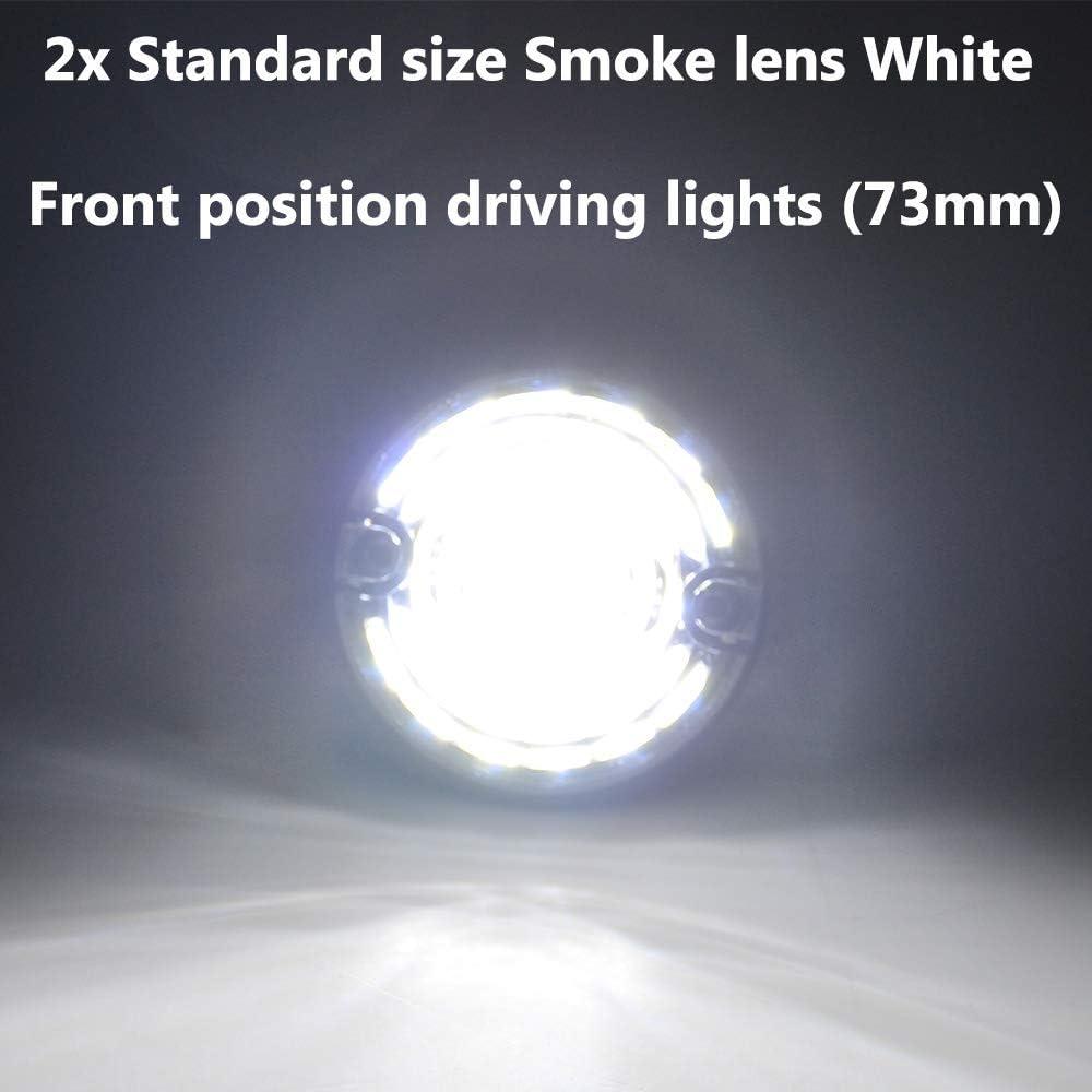 For Land Rover Defender 90//110 Complete 73MM 8PCS LED Lights Lamps Upgrade Kit