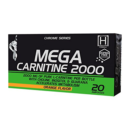 Beverly Nutrition Exclusive For Absat40 Mega Carnitine 2000 - Stimulate Weight Loss - Eliminates Fat Deposits & Accelerates Metabolism Weight Loss - Orange Flavor - 20 Ampoules