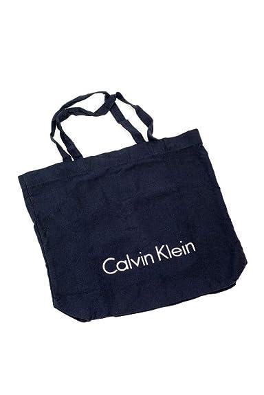 81468c895 Calvin Klein Navy Blue Canvas Shopping/Beach Tote Bag: Amazon.co.uk: Shoes  & Bags