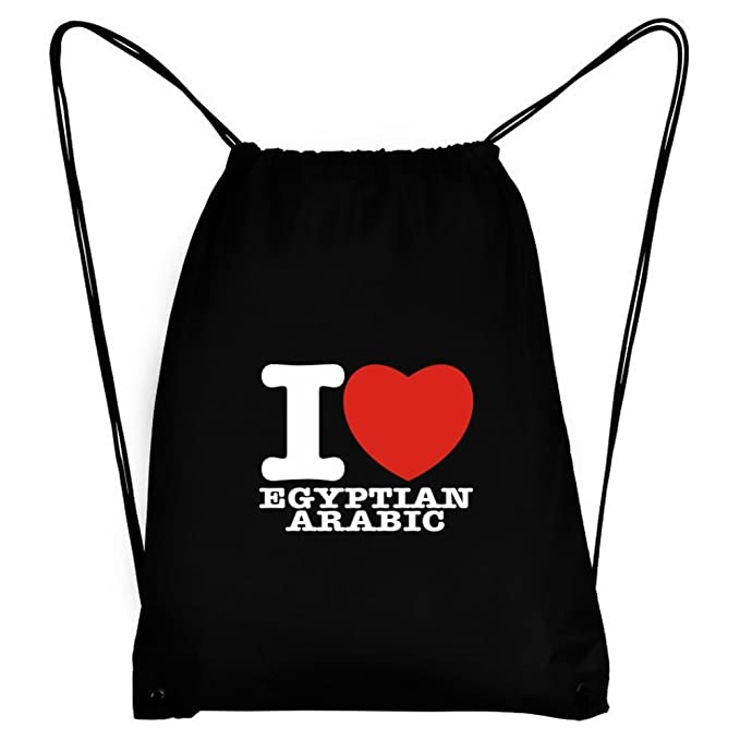Amazon Teeburon I Love Egyptian Arabic Sport Bag Drawstring Bags