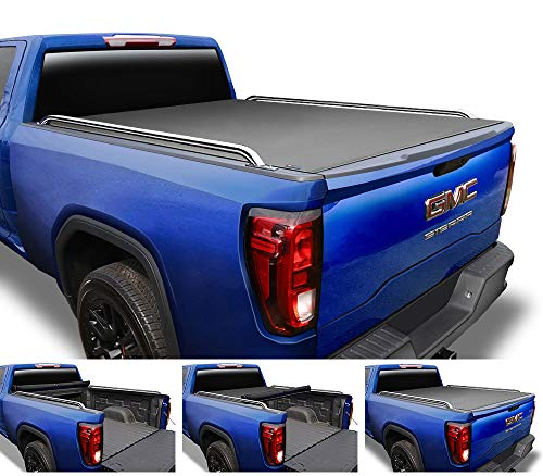 Tyger Auto T2 Low Profile Roll-Up Truck Tonneau Cover TG-BC2C2058 Works with 2007-2014 Chevy Silverado/GMC Sierra 1500 2500 3500 HD   Excl. 07 Classic   Fleetside 8' Bed   Without Utility Track
