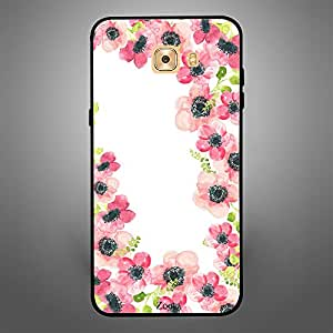 Samsung Galaxy C9 Pro Pink Flowers Pattern