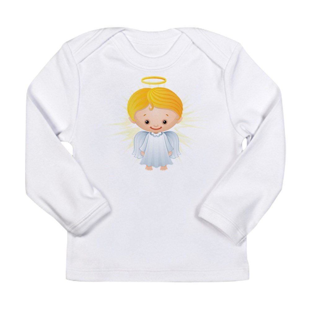 Cloud White Truly Teague Long Sleeve Infant T-Shirt Christmas Cuties Shining Angel Of The Lord 12 To 18 Months