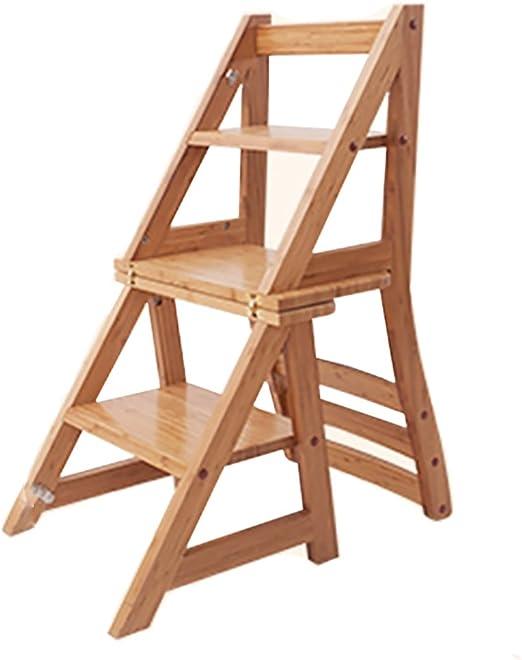 Pinzas de pedal, 3 pasos - silla de escalera plegable de madera: Amazon.es: Bricolaje y herramientas