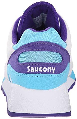 Saucony Hombre Shadow 6000 Trainers, Azul blanco y azul