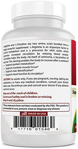 Best Naturals Arginine Citruline Complex 1000 mg 120 Tablets by Best Naturals (Image #6)