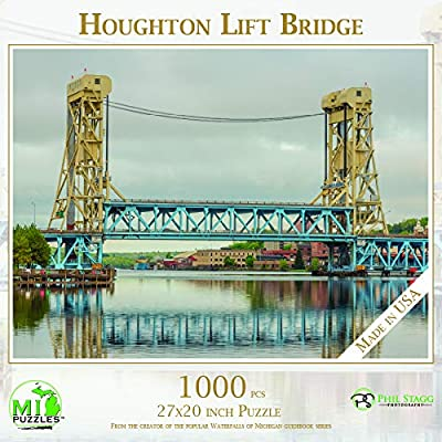 Houghton Lift Bridge - 1,000 Piece MI Puzzles Jigsaw Puzzle: Toys & Games