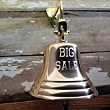 Polished Brass ''Big Sale'' Engraved Bell (7 Inch)