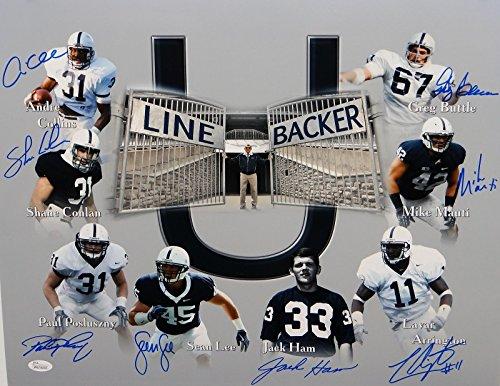 Linebacker U Autographed Penn State 16x20 Photo- JSA W Authenticated