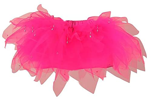 d32585a11 LUXURY HOT PINK TUTU SKIRT ,ADULT SIZE 8-12 ,HEN PARTY,RACE FOR LIFE 7  LAYERS, SATIN LINING, SLIVER BEAD DROPLETS: Amazon.co.uk: Clothing
