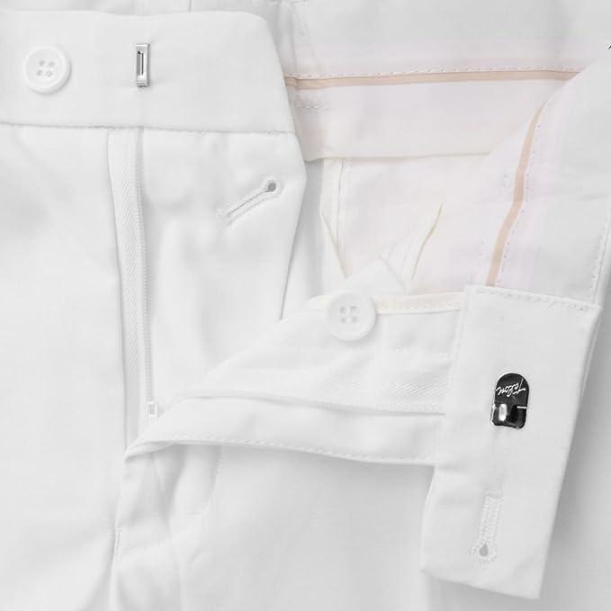 ACCEWIT 2-TLG. Traje de Hombre con Corbata Blanca. Talla 48 ...