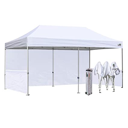 Ez Up Canopy 10x20 >> Eurmax 10 X 20 Pop Up Canopy Commercial Grade Event Canopy Market Stall Canopy Booth Trade Show Tent Bonus Wheeled Storage Bag And 4pcs Weight Bags