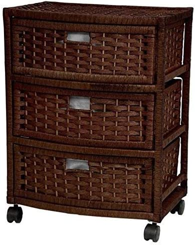 Oriental Furniture 23″ Natural Fiber Chest of Drawer
