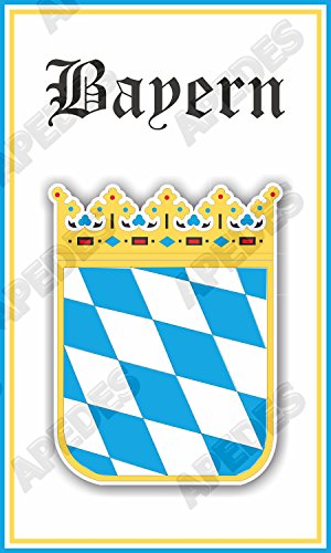 Bayern Germany Coat Of Arms Computer Car Decal Sticker 3x5 inches (Bayern Coat)