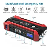 Anlo Portable Car Jump Starter with Upgraded Smart Jump Cable, 1000A Peak 26800mAh Car Jumper 12V Auto Battery Booster Phone Charger Power Pack Built-in LED Light