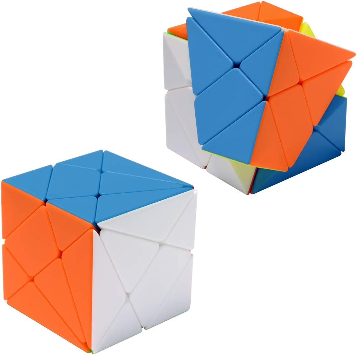 Maomaoyu Stickerless Toys Pack of 3 Cube Set,Windmill Cube Wheel Shape Cube,3x3 Fluctuation Angle Puzzle Cube,3x3 Fisher Cube YiLeng Twisty Puzzle