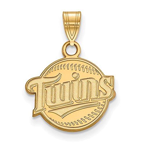 Q Gold MLB Minnesota Twins 10ky MLB LogoArt Minnesota Twins Small Pendant Size One ()