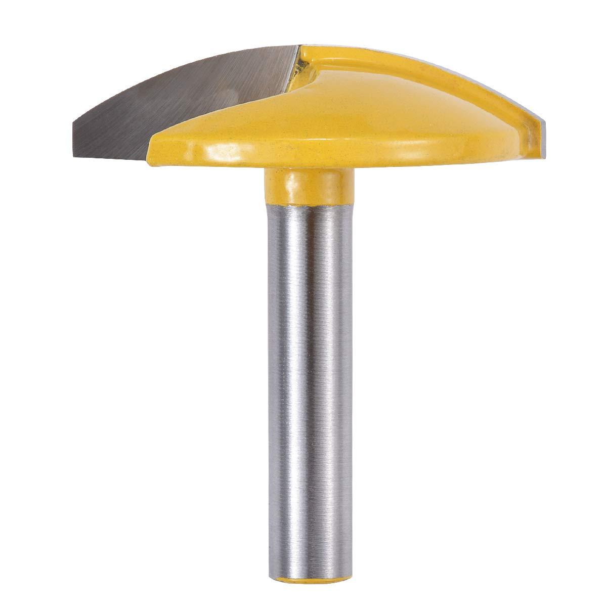 Petite toupie avec tige de 8mm Fraise pour chape tige de 8mm, largeur de 1-3//4, rayon de 1.65 KATUR Fraise horizontale pour toupie