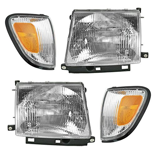 Headlight Corner Light Lamp LH RH Left Right Kit Set of 4 for 98-00 Tacoma - Toyota Tacoma Headlight Replacement