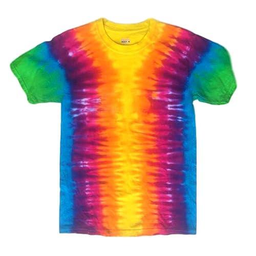 c5b153d7fea Amazon.com  Bright Rainbow Tie Dye Tshirt - L  Handmade