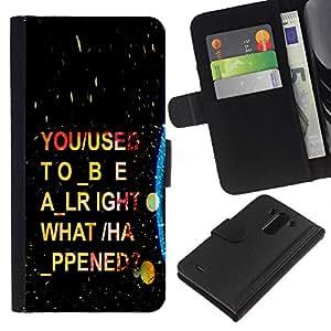 LECELL--Cuero de la tarjeta la carpeta del tirón Smartphone Slots Protección Holder For LG G3 -- Psychedelic Guión --