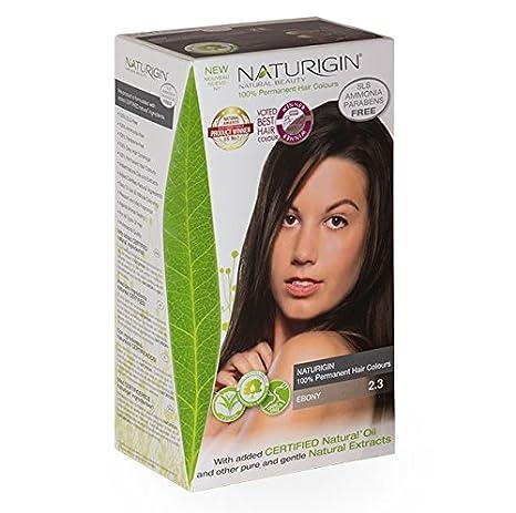 Buy NATURIGIN® ORGANIC BEAUTY - Permanent Hair Colour - Ebony 2.3 ...