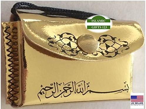 Amazon Com Quran Black Or Gold 2 Pcs Lot Mini Holy Quran Leather