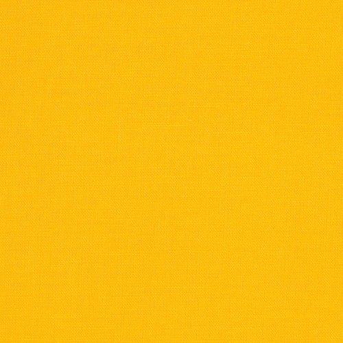 Yellow Broadcloth - Robert Kaufman Kona Cotton Sunny Fabric by The Yard, Sunkissed Yellow