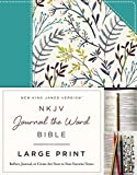 NKJV, Journal the Word Bible, Large Print, Cloth over Board, Blue Floral, Red Letter Edition: Reflect, Journal, or Create Art Next to Your Favorite Verses