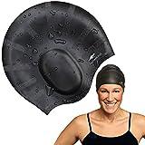 FASTAROOZ Long Hair Swim Cap | Black
