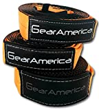 "(2 Pk) GearAmerica Tow Strap 3""x20' + Tree Saver Winch Strap 3""x8' Value Bundle 