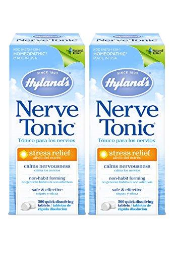 Hyland's Nerve Tonic, 500 Tablets (Pack of 2)