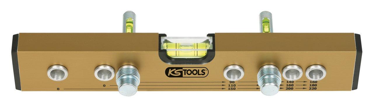 KS Tools 204.2000 Niveau /à entraxes normalis/és en aluminium